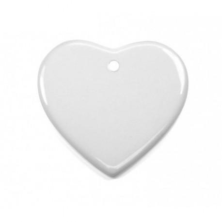 Ornement coeur en céramique Sublimation Transfert Thermique