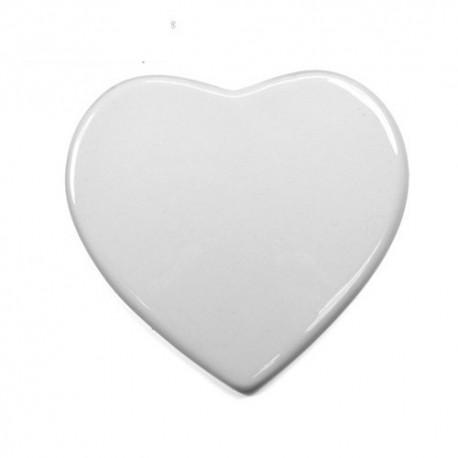 Ornement coeur funeraire 10 cm en céramique