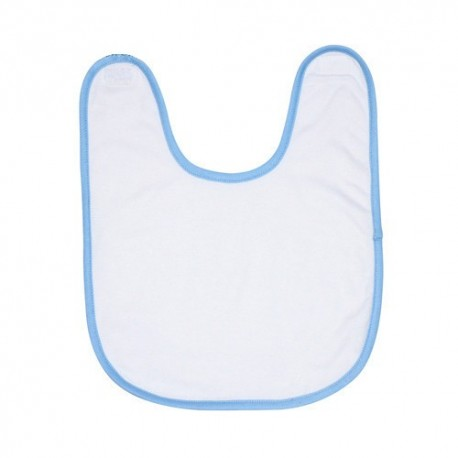 Bavoir éponge pour bébé bordure bleu ciel à personnaliser