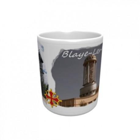 Mug blanc classe A+ 330 ml avec boîte ville de Blaye Les Mines