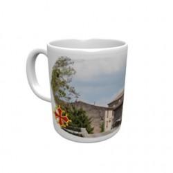 Mug blanc classe A+ 330 ml avec boîte ville de Monestiés
