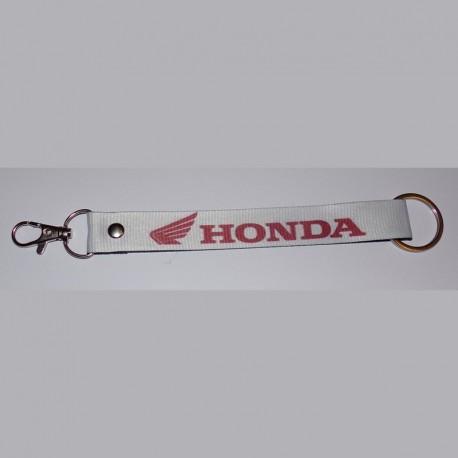 HONDA Porte-clés en polyester blanc
