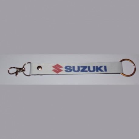 SUZUKI Porte-clés en polyester blanc