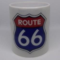 Mug ROUTE 66 blanc classe AA 325 ml avec boîte