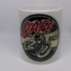 Mug CAFE RACER blanc classe AA 325 ml avec boîte