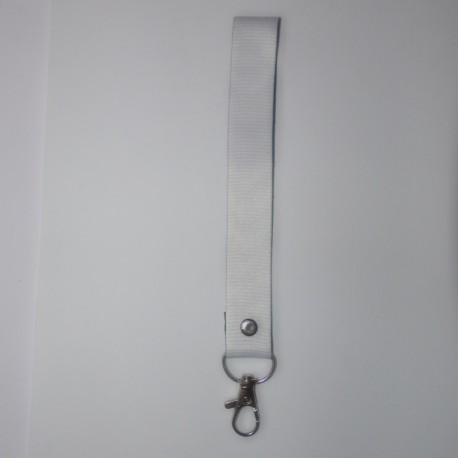 Porte-clés en polyester blanc