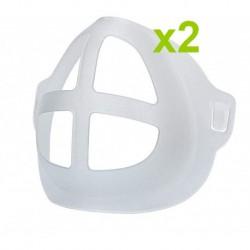 2 Supports de Visage 3D en Silicone